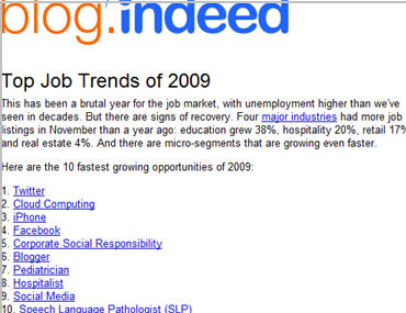 blog indeed